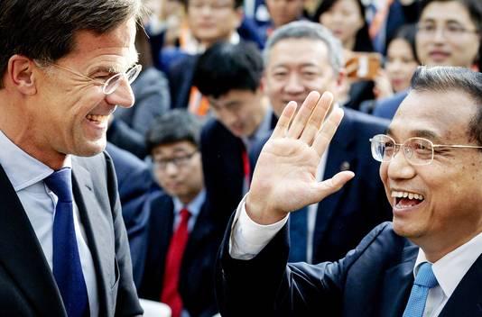 Vorige maand had premier Mark Rutte nog pret met zijn Chinese ambtsgenoot Li Keqiang