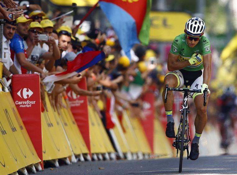 Sagan werd voor de vijfde keer tweede in deze Tour Beeld REUTERS