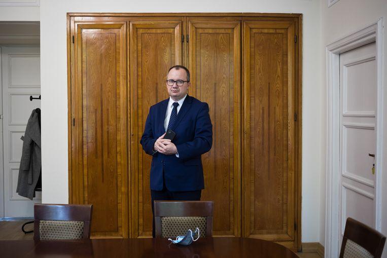 De voormalig-ombudsman in Polen, Adam Bodnar.  Beeld Piotr Malecki