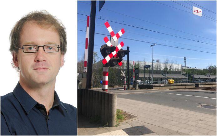 De spooroverweg in Dilbeek zou afgesloten worden voor alle verkeer om een autotunnel te realiseren.