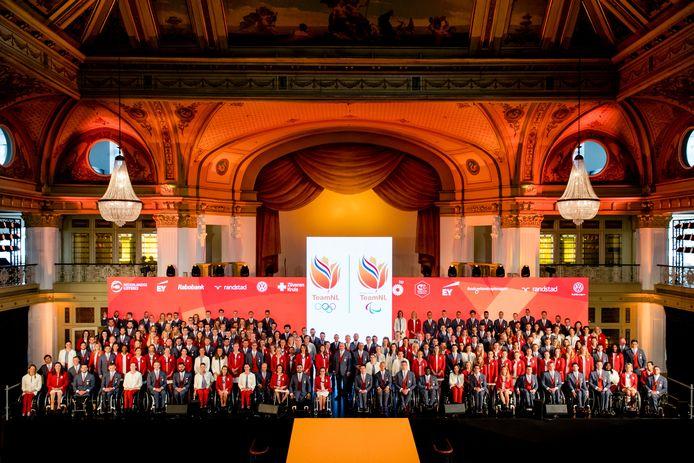 Het olympisch en paralympisch team dat Nederland vertegenwoordigt in Rio.