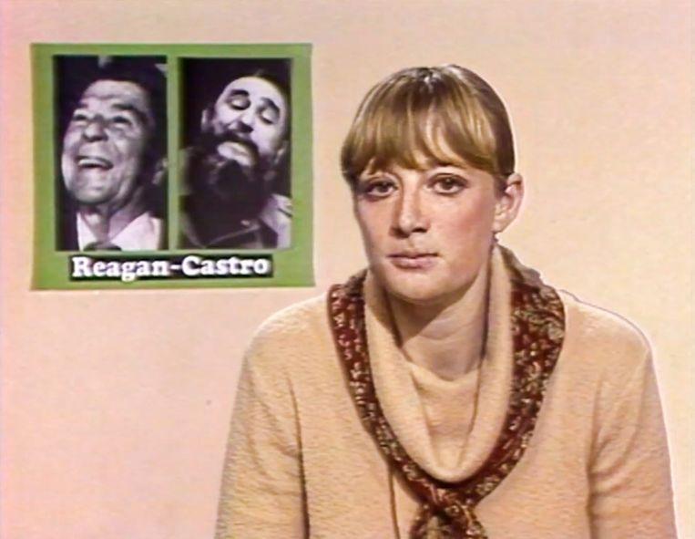 In 1980 houdt Martine Tanghe in Humo een lofzang op het onderwijssysteem in het Cuba van Fidel Castro. Ze ziet er 'een vrolijk, levendig communisme, een joviaal volk ook'. Beeld Vrt