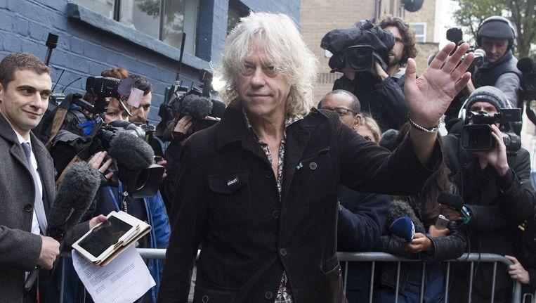 Bob Geldof voorafgaand aan de opnames van het nummer Beeld afp