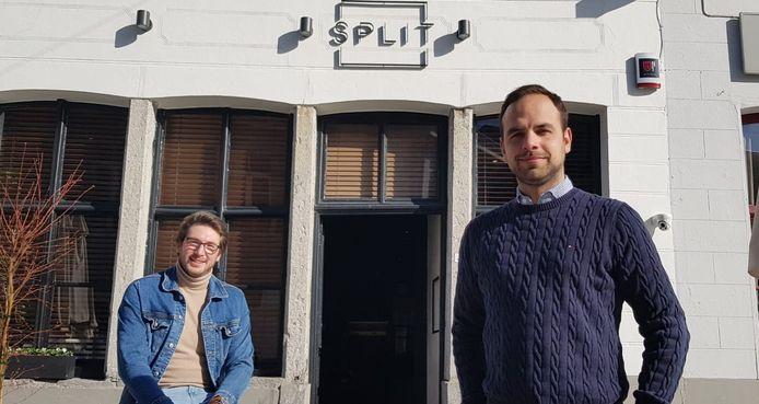 Dieter De Clercq (rechts) uitbater Café 56, Spit en zaakvoerder Siba Events, samen met een medewerker.