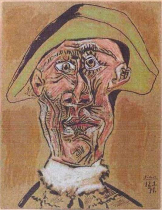 Harlequin Head van Pablo Picasso