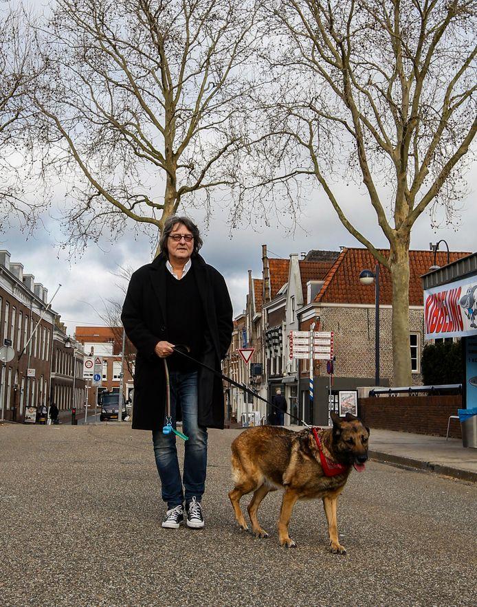 24022021 Kees Thies met Blafmans op de Vriesebrug Dordrecht Tstolk