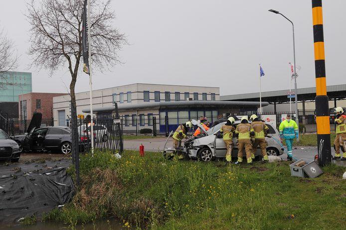 Het ongeluk gebeurde aan de Havenweg.