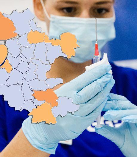 KAART | Veel gemeenten kunnen positieve tests op 1 hand tellen, alleen in deze provincie (lichte) stijging