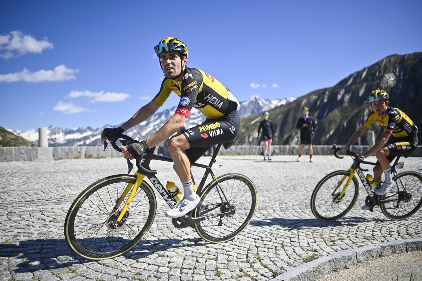Tom Dumoulin tijdens de Ronde van Zwitserland.