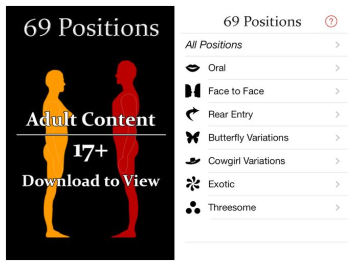 Je kan de app 69 positions gratis downloaden in de App Store.