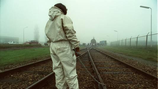 Archieffoto van een Greenpeaceactie chemieconcern Dupont.