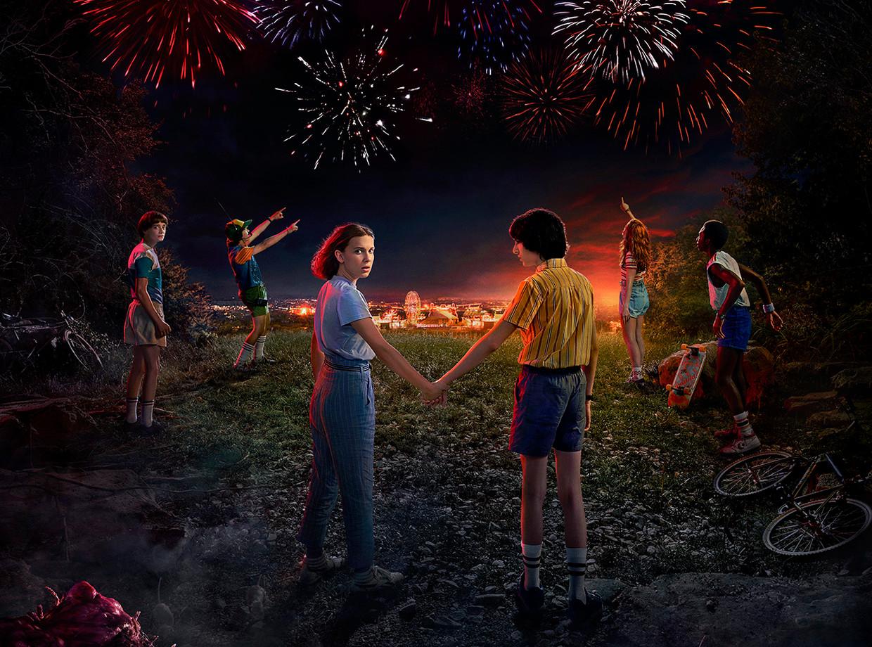 'Stranger Things 3' is vanaf donderdag te zien op Netflix. Beeld Netflix