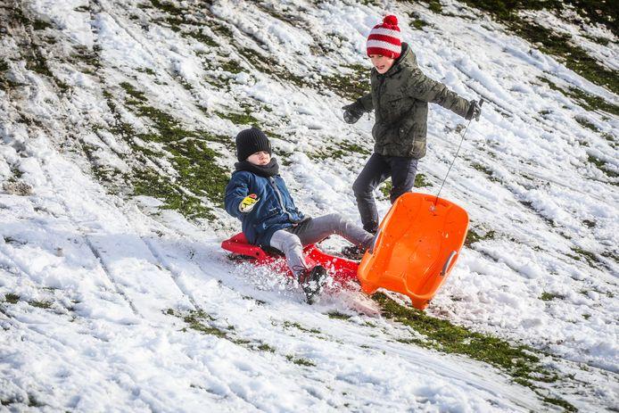 sneeuwpret Brugge: aanrijding nipt vermeden