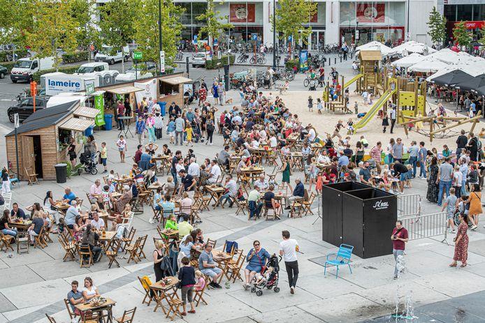 Een sfeerbeeld van een vorige editie van de Autovrije Zondag in Roeselare.