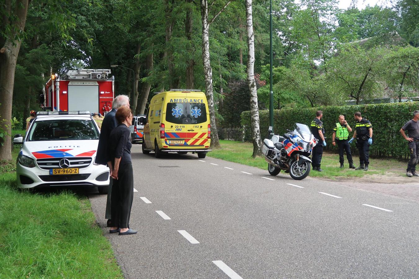 Ongeval met steiger in Waalre.