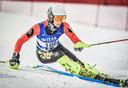 Leuvenaar Dries Van Ceulebroeck verovert 3de plaats in de Slalom tijdens het BK-skiën.