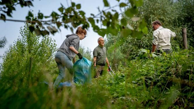 Grootste IVN-schoonmaakactie ooit langs de Waal, 'klein spul' is nu aan de beurt