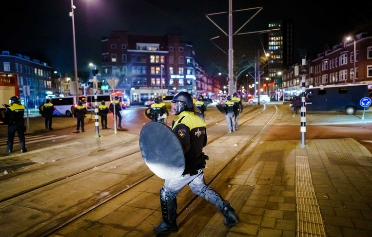 Onrust in Rotterdam.  Beeld ANP