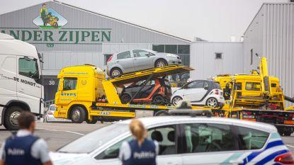 Zes van de twaalf wagens in Zellikse loods stonden met zekerheid geseind als gestolen