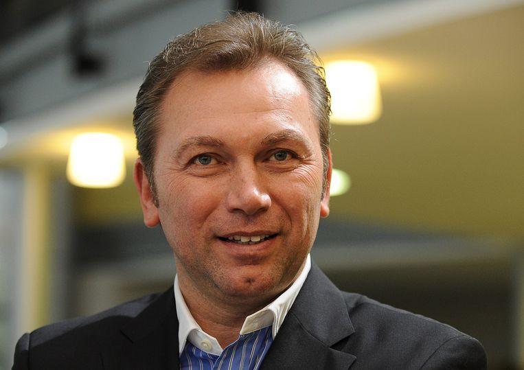 Armstrongs voormalige ploegleider Johan Bruyneel, eveneens aangeklaagd door het Amerikaanse ministerie van Justitie. Beeld AFP