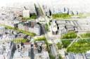 Beeld van het toekomstige plein
