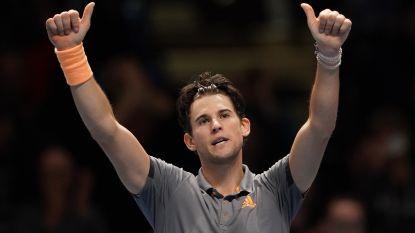 Thiem verslaat Djokovic na marathonmatch op ATP Finals