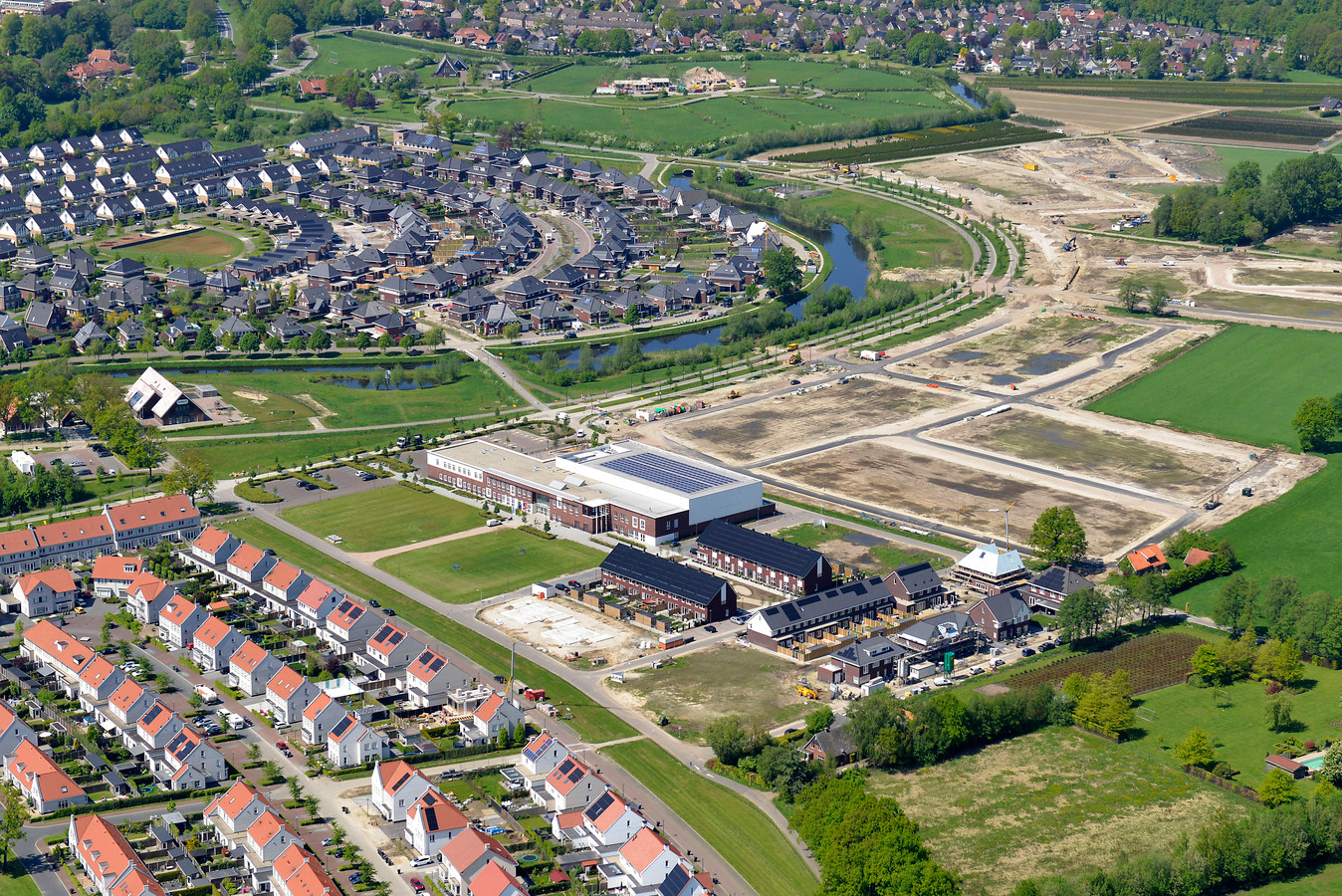 Mede door de wijk Bornsche Maten groeit Borne aanzienlijk.