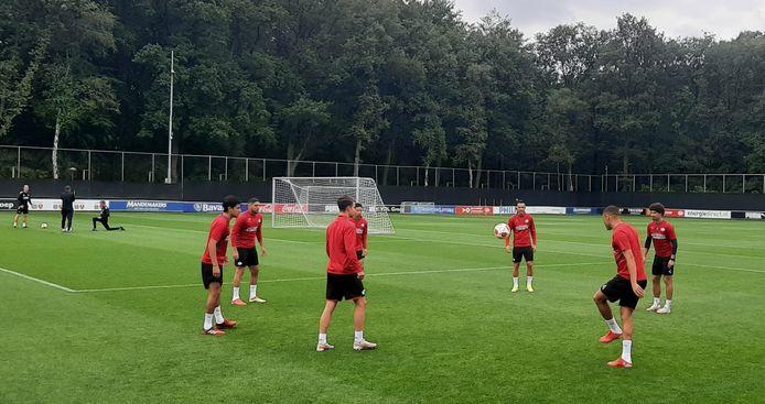 De PSV'ers daags voor het duel met Real Sociedad