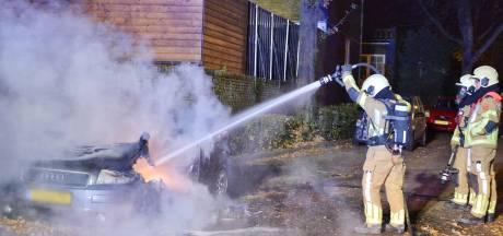 Auto uitgebrand aan de Herenweg in Bergen op Zoom