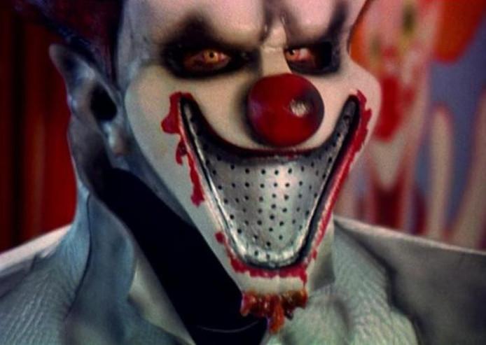 Een voorbeeld van een enge clown.