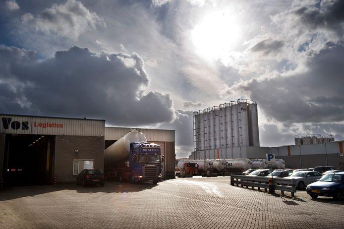 Het terrein van Vos Logistics aan de Waalkade in Oss waar in augustus 2017 de steekpartij plaats had.