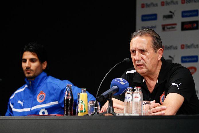 Georges Leekens en Lior Refaelov in hun tijd samen bij Club Brugge.