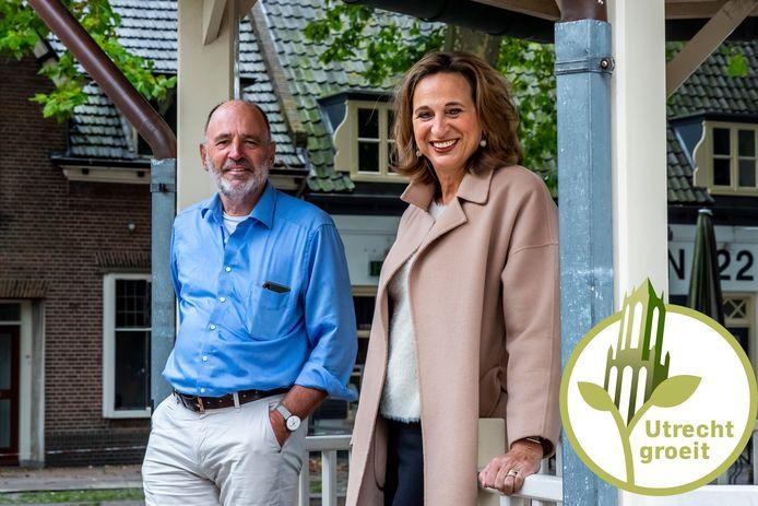 Rino Jonkers (64)  en zijn zus Ellen Standhardt-Jonkers (59) willen een referendum om Houten het dorpse karakter te laten houden.