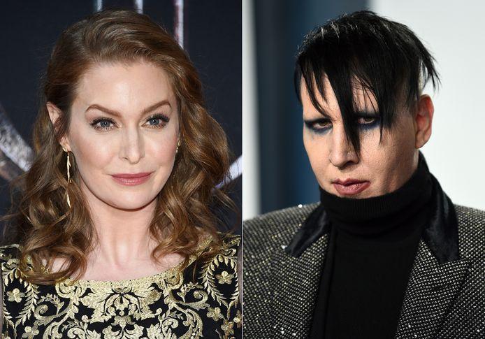 Portraits d'Esmé Bianco et Marilyn Manson