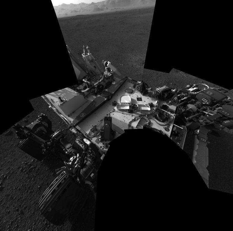 Zelfportret van Marsverkenner Curiosity. Beeld EPA