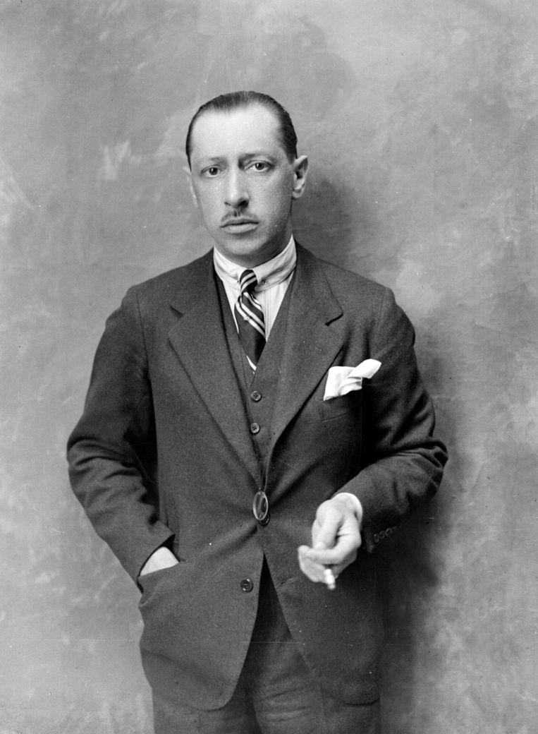 De in 1882 in Rusland geboren componist Igor Stravinsky, hier op een foto uit 1922, overleed op 6 april 1971. Beeld Roger Viollet /Getty Images