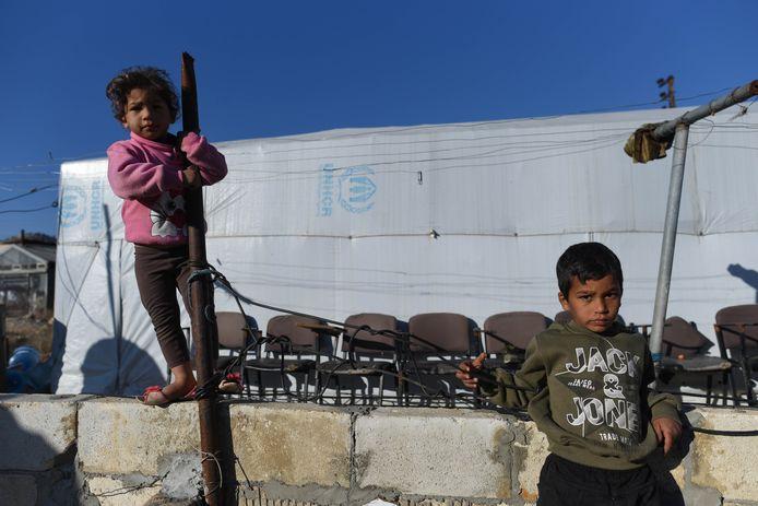 Illustration. Des enfants syriens dans un camp de réfugiés.