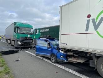 Opnieuw zware botsing aan wegenwerken E403 in Lichtervelde: 2 gewonden