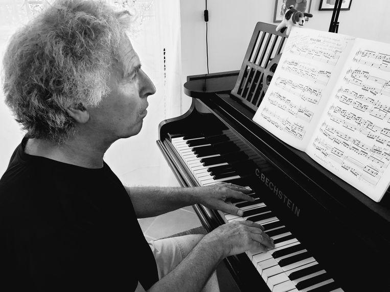 Marcel Worms: 'Het kost mee geen moeite net zo te spelen als  als wanneer er publiek bij is.' Beeld