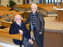Deken Wilfried Van Wilder en organist Jean-Marie Cauwels in de Sint-Jozefkerk.
