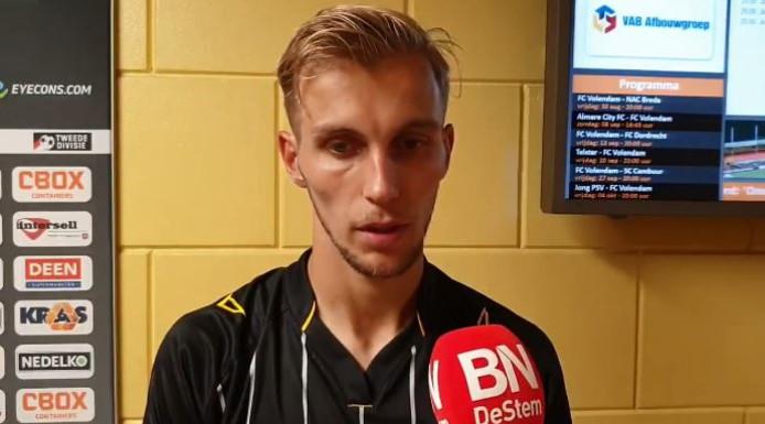 Finn Stokkers baalt na de nederlaag van NAC