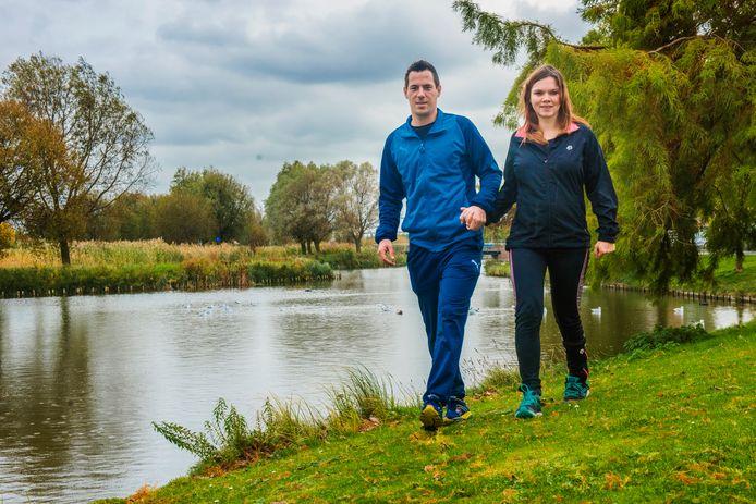 Danielle Pols en Carlo de Labije, sporters met hersenletsel.