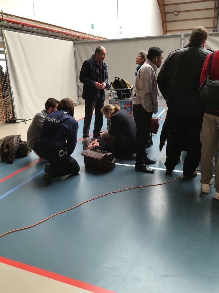 Man wordt onwel in sporthal Zaventem.