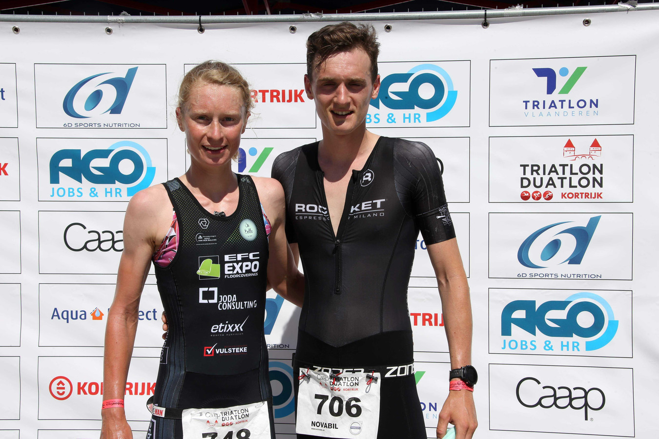 In de Kortrijkse duatlon was het Oost-Vlaanderen boven met winst voor Guust De Smul bij de mannen en Lotte Claes bij de vrouwen. Claes had bij de finish meer dan 8 minuten voorsprong.