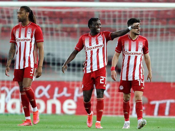 Bruma in het shirt van Olympiakos, afgelopen weekend. Hij was twee keer trefzeker.