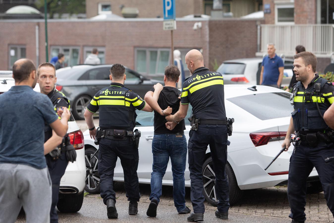 Meerde arrestaties na incident na aanrijding in Soest, op 16 juli 2021.
