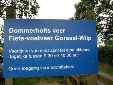 Fietsveer Gorssel-Wilp uit de vaart