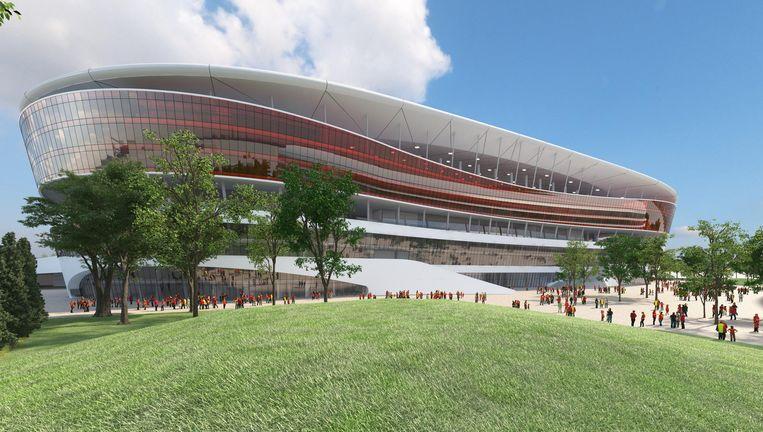 Een beeld van het Eurostadion. Beeld rv
