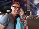 Anja van den Beemt tijdens een eerdere editie van Lowlands met haar man Ben. Hij is dit jaar voor de achttiende keer naar festival geweest