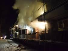 Bewoners flat vluchten met hun hondjes voor brand in Doetinchem; zes appartementen ontruimd